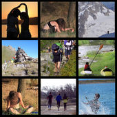 Sports and stretching in nature — Stok fotoğraf