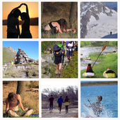 Sports and stretching in nature — 图库照片