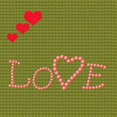 влюбленное сердце — Стоковое фото