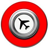 Plane button — Stock Photo