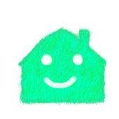 Grass eco house — Stock Photo