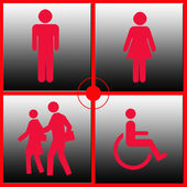 Red person icons — Stock Photo