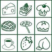 Grüne symbole — Stockfoto