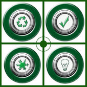 Eco Natural button — Stok fotoğraf