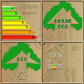 Eco natural house — Stok fotoğraf