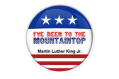 Martin Luther King Jr.i have been to the mountain top badge — Stock Photo