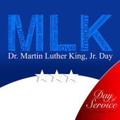 MLK, Patriotic background, Dr. Martin Luther King, Jr. Day of Service — Stock Photo