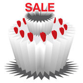 Sale on Valentine's Day — Stock Photo