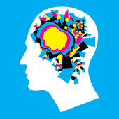 CMYK - Left and Right human brain — Stock Photo