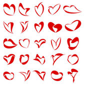 25 Hearts — Stock Photo