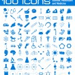 100 icons — Stock Photo