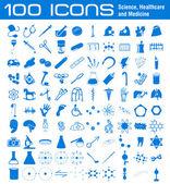 100 icons — Stock Photo