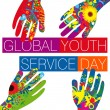 Global Youth Service Day — Stock Photo #41142085