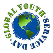 Global Youth Service Day — Stock Photo