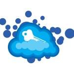 Cloud Computing Security Concept — Stock Photo