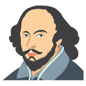 Illustration of William Shakespeare — Stock Photo