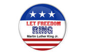 Patriotic badge: Let freedom ring — Stockfoto