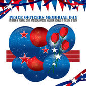 Peace Officers Memorial Day Background — Stock Photo