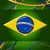 Brazil Flag Background — Stock Photo