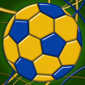 Brazil Football Background — Stock Photo
