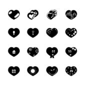 Heart black 16 — Stock Vector