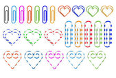 Different colored paper clips — Stock Vector