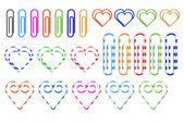 不同彩色的回形针 — 图库矢量图片