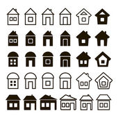 Set of thirty universal icons home — Stock Vector