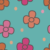 Pattern with flowers on a beige background 1 — Vetorial Stock