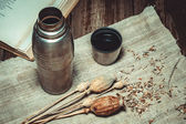Still Life With Thermos — Stock Photo
