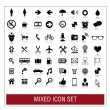 Mixed icon set — Stock Vector