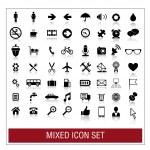 Mixed icon set — Stock Vector