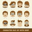 Men character icons — Stock Vector #38958139