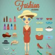 Stock Vector: Fashion Woman