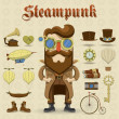 Stock Vector: Steampunk character