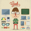 Geek — Vector de stock #38958333