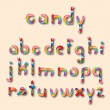 Candy alphabet — Stock Vector