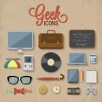 Geek accessories — Vector de stock
