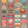 Retro design label set — Stock Vector