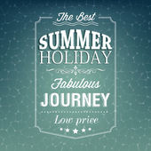 Summer holiday typography — Stockvector