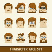 Men character icons — Stock Vector