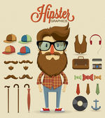 Hipster character design — Stock Vector