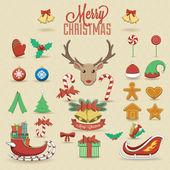 Christmas elements — Stock Vector