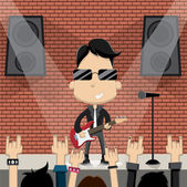 Rock star — Stock Vector