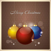 Greeting Card with Baubles — Stockvektor