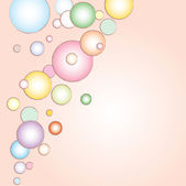 Illustration of bubbles — Stock Vector