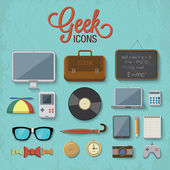 Geek pictogrammen — Stockvector
