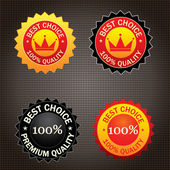 Illustration of best choice seal — Wektor stockowy