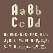 Origami alfabetu — Wektor stockowy