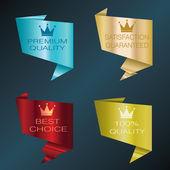 Origami labels — Stock Vector